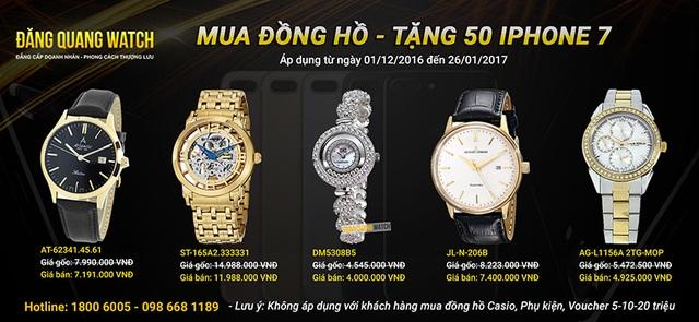 Tặng 50 Iphone 7 khi mua đồng hồ tại Đăng Quang Watch - 2