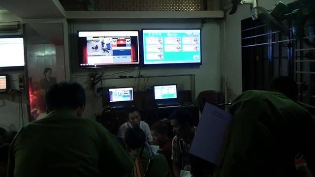 Các màn hình có các hình thức cá độ, đánh bạc qua mạng