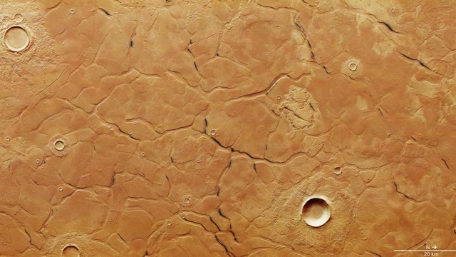 Hình ảnh vệ tinh về địa hình của Utopia Planitia – nơi các nhà khoa học phát hiện dải băng khổng lồ (Ảnh: ESA)
