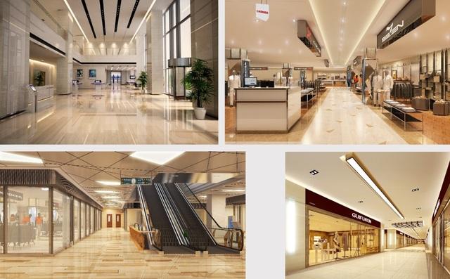 Tiện ích dự án hoàn hảo với trung tâm thương mại, thang máy tốc độ cao, phòng tập gym…