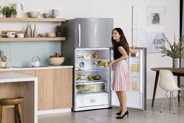 Tủ lạnh TCP của Samsung một ví dụ. Với công nghệ hai dàn lạnh độc lập Twin Cooling PlusTM giúp duy trì độ ẩm ổn định đến 70% để người dùng có thể thoải mái dự trữ rau củ quả trong tủ lạnh đến 10 ngày