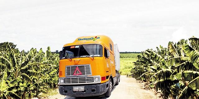 Đội xe vận tải đường bộ được Tân Nam Chinh Logistics đầu tư mạnh mẽ những năm qua với 50 chiếc container hàng lạnh, chủ yếu vận chuyển hàng nông sản, trái cây như thanh long, chuối…