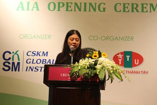 Bà Joanna Liu - trưởng đại diện Hiệp hội kế toán AIA tại Việt Nam