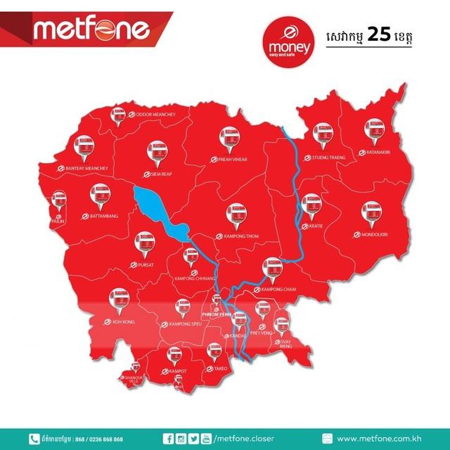 Metfone tiên phong cung cấp dịch vụ chuyển tiền đầu tiên tại Campuchia thông qua sản phẩm Ví điện tử eMoney.
