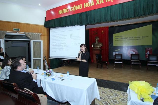 Bà Đặng Thị Mai Trang, Trưởng Đại diện ICAEW Việt Nam phát biểu tại sự kiện.