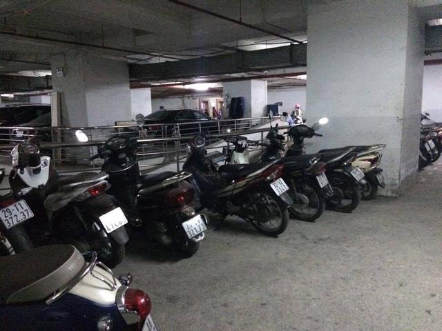 Hầm để xe tại Kinh Đô Tower