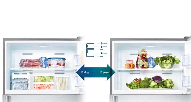 Nhờ chế độ tùy chỉnh 2 dàn lạnh Smart Conversion, người dùng có thể linh hoạt điều chỉnh các trạng thái của ngăn tủ lạnh theo nhu cầu cá nhân.