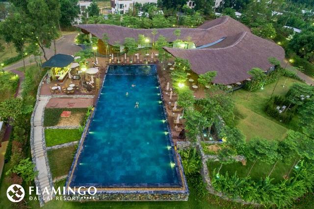 Tổ hợp tiện ích nhà hàng và bể bơi Forest – Flamingo Đại Lải Resort