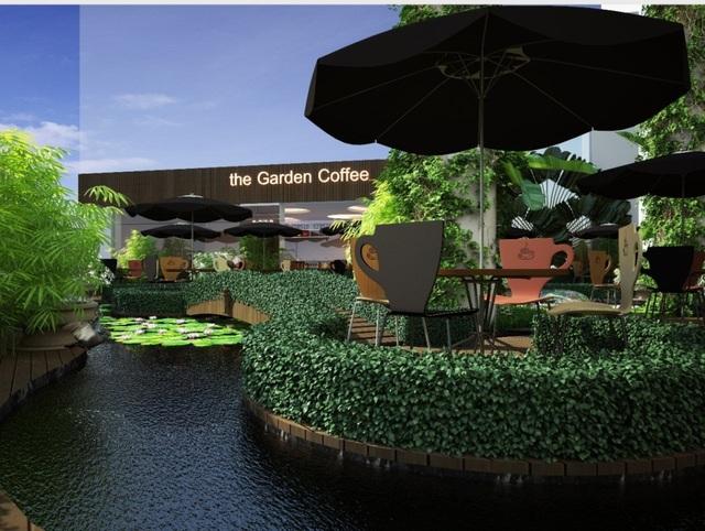 Mô hình vườn café độc đáo tại tầng 6 tòa nhà