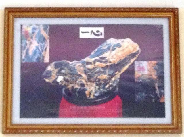 Bức tranh ông Nhàn chụp và treo trang trọng trong ngôi nhà.