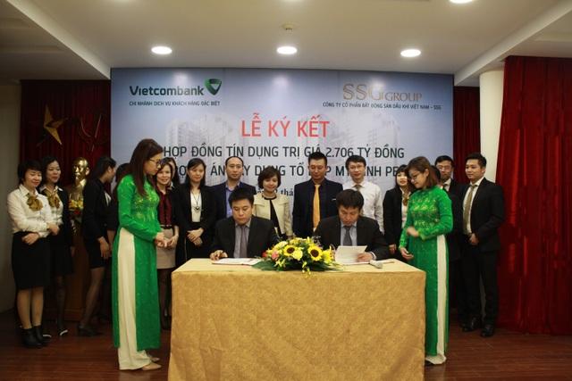Lễ ký kết giữa Tập đoàn SSG và Ngân hàng Thương mại Cổ phần Ngoại thương Vietcombank về bảo lãnh tiến độ