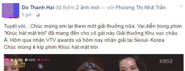 Trên trang Facebook cá nhân, Nhã Phương nhận được lời chúc mừng của rất nhiều bạn bè, đồng nghiệp và người hâm mộ trước những nỗ lực của cô.