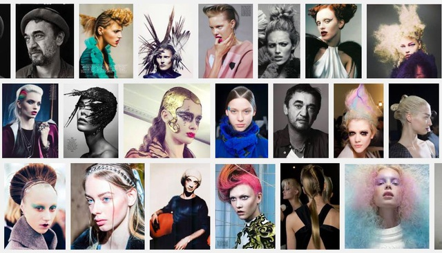Eugene Souleiman với một số mẫu tóc sáng tạo.