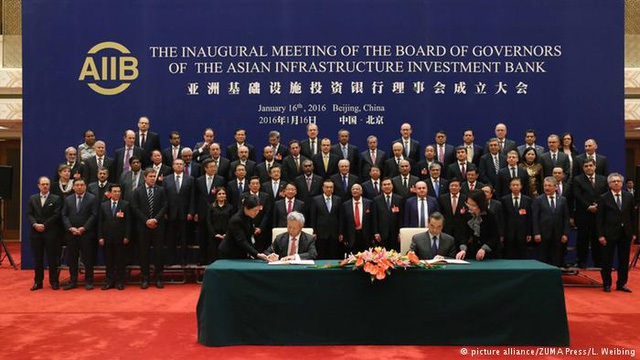 Ngân hàng Đầu tư Cơ sở Hạ tầng châu Á (AIIB) chính thức đi vào hoạt động ngày 16/1 (Ảnh: DW)
