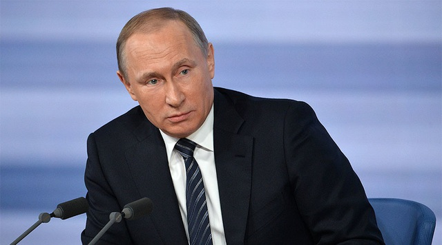 Tổng thống Nga Vladimir Putin tại cuộc họp báo. (Ảnh: Sputnik)