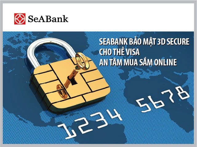 SeABank bảo mật 3D Secure cho thẻ Visa.