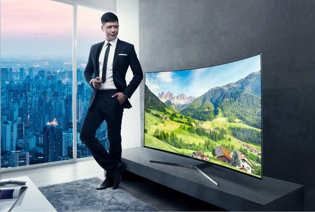 Samsung SUHD TV với thiết kế ấn tượng đã tạo nên sự trọn vẹn cho không gian giải trí tại gia