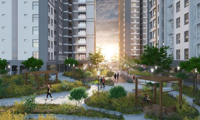 Cư dân thư giãn ngay với mảng xanh trong nội khu dự án