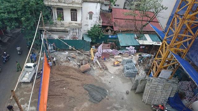 Công trình xây dựng nơi xảy ra vụ sập giàn giáo.