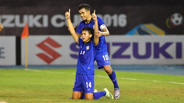 Sarawut Masuk ghi bàn duy nhất mang về 3 điểm cho Thái Lan