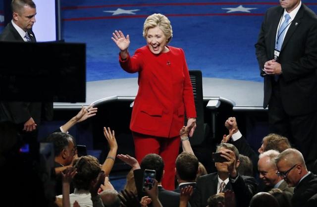 Buổi tranh luận được đánh giá là khá thành công đối với bà Clinton.