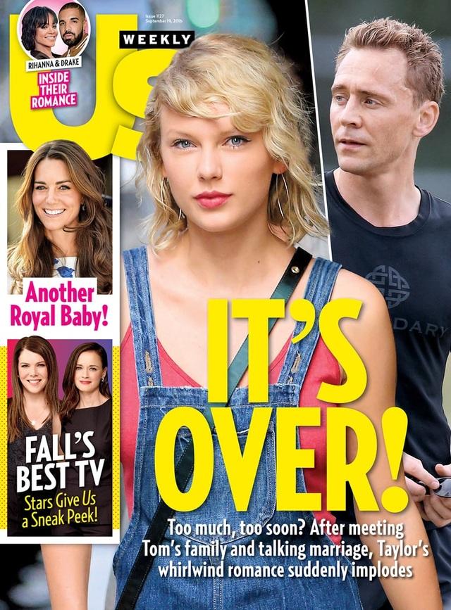 Tờ Us Weekly khẳng định, mối tình đẹp giữa Taylor và Tom đã chấm dứt và người chủ động chia tay là nữ ca sĩ tóc vàng.