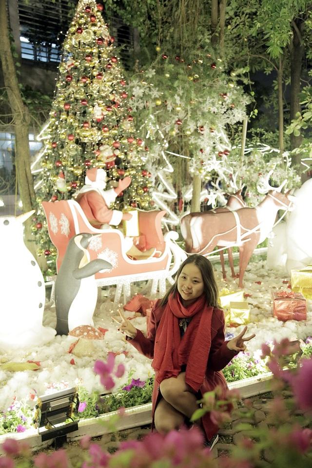 Ngỡ ngàng vườn Giáng sinh lung linh trong trường Đại học - 9