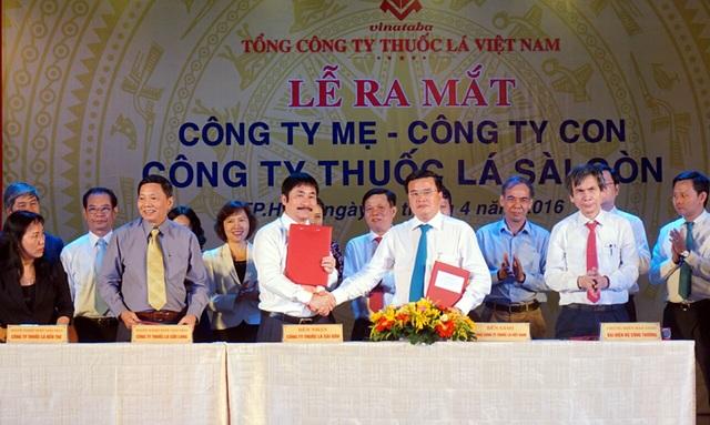 Lễ ra mắt Công ty mẹ - công ty con Công ty Thuốc lá Sài Gòn