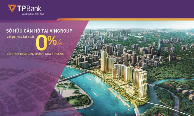 Sở hữu căn hộ cao cấp Vingroup chỉ với lãi suất 0% của TPBank - 1