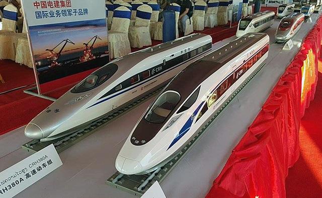 Mô hình tàu cao tốc Trung Quốc đóng cho Lào. (Ảnh minh họa: Getty)