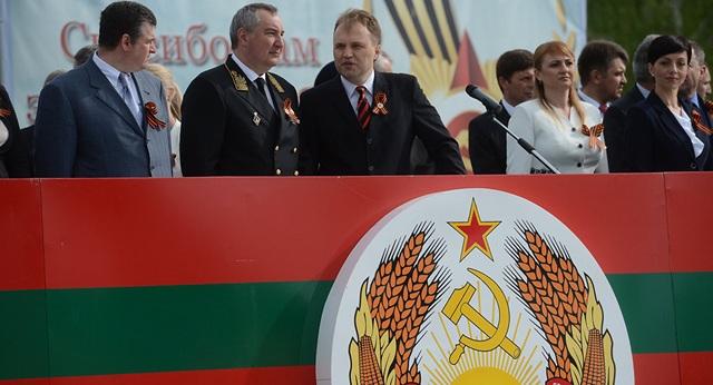 Tổng thống Transnistria Evgeny Shevchuk (thứ ba từ trái sang). (Ảnh: Sputnik)