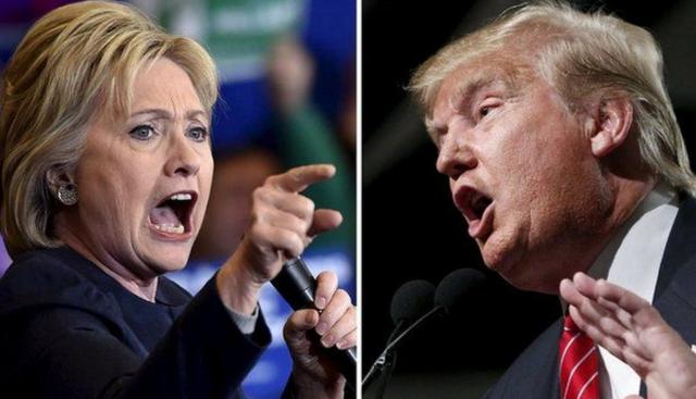 Ứng viên tổng thống Dân chủ Mỹ Hillary Clinton (trái) và ứng viên Cộng hòa Donald Trump. (Ảnh: Getty)