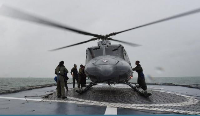 Một chiếc trực thăng Bell của quân đội Indonesia. (Ảnh minh họa: AFP)