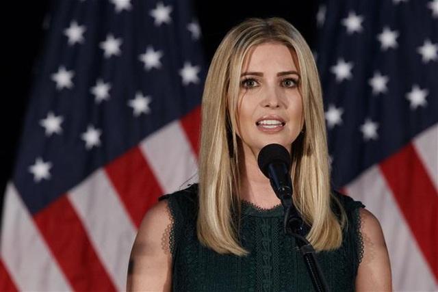Ivanka Trump, con gái của ứng viên tổng thống đảng Cộng hòa Donald Trump. (Ảnh: AFP)