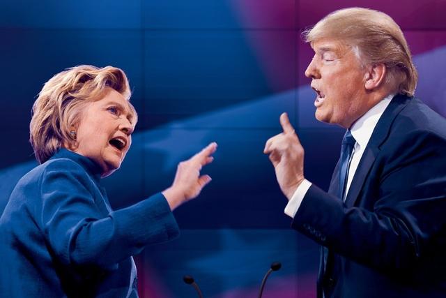 Ông Trump đã bất ngờ đánh bại một đối thủ giàu kinh nghiệm chính trị - bà Clinton (Ảnh: theatlantic)