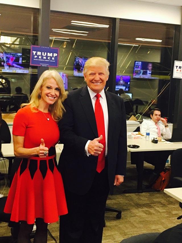 Quản lý chiến dịch tranh cử của ông Trump, bà Kellyanne Conway, tự tin rằng ông Trump sẽ giành chiến thắng (Ảnh: Twitter)