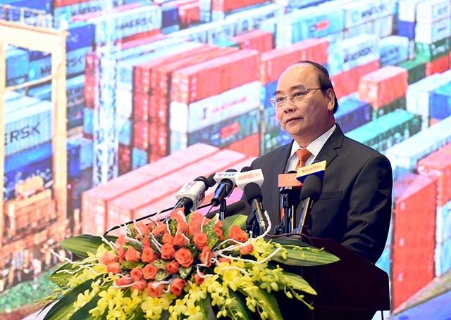 Thủ tướng phát biểu trước các nhà đầu tư trong và ngoài nước ở Hải Phòng