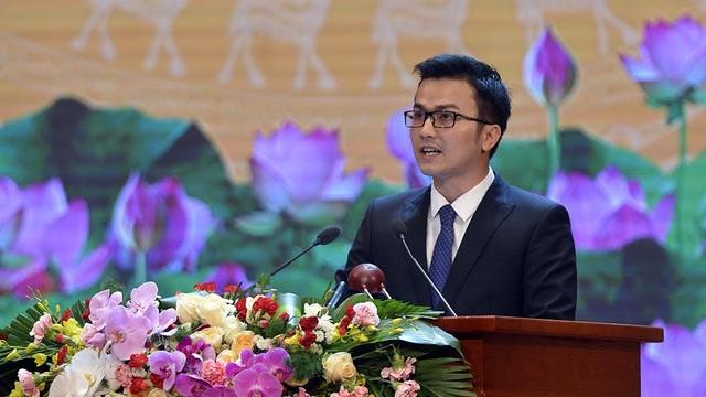 Phó Giáo sư, Tiến sỹ Trần Xuân Bách – đại diện thế hệ trẻ phát biểu