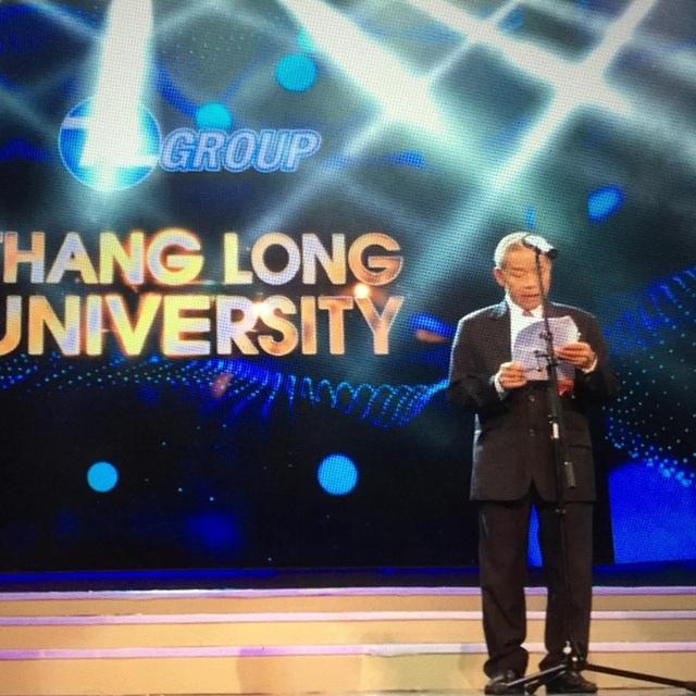 Nguyên Phó Chủ tịch Quốc hội Nguyễn Phúc Thanh phát biểu tại một sự kiện của Thăng Long Group