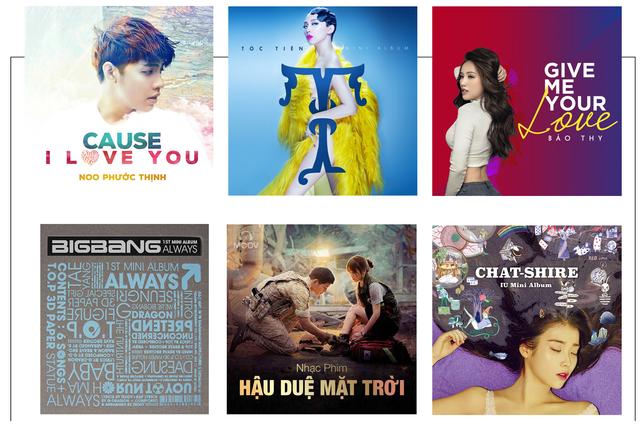 Thư viện âm nhạc V-pop cập nhật liên tục, thư viện âm nhạc K-pop có bản quyền lớn nhất Việt Nam