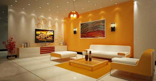 Căn phòng rộng hơn với màu vàng ấm áp