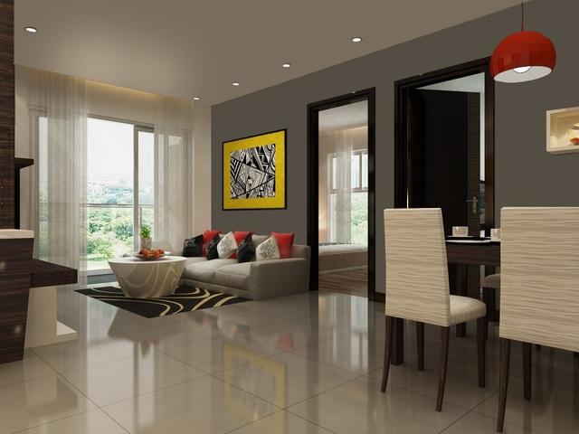 Không gian căn hộ được thiết kế hợp lý, đón nắng gió tự nhiên.