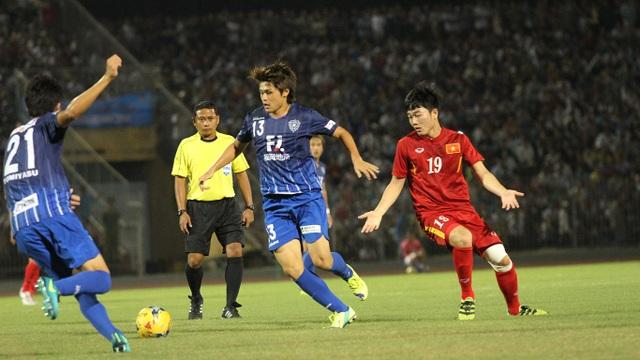 Xuân Trường và đồng đội không thể có được bàn thắng trước Avispa Fukuoka