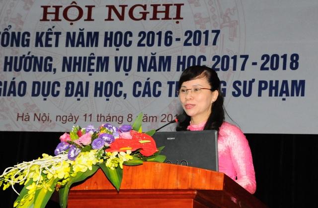 Bà Nguyễn Thị Kim Phụng Vụ trưởng Vụ Giáo dục đại học - Bộ GD&ĐT