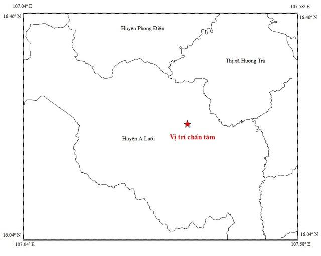 Trận động đất vừa xảy ra tại huyện A Lưới ngày 5/2