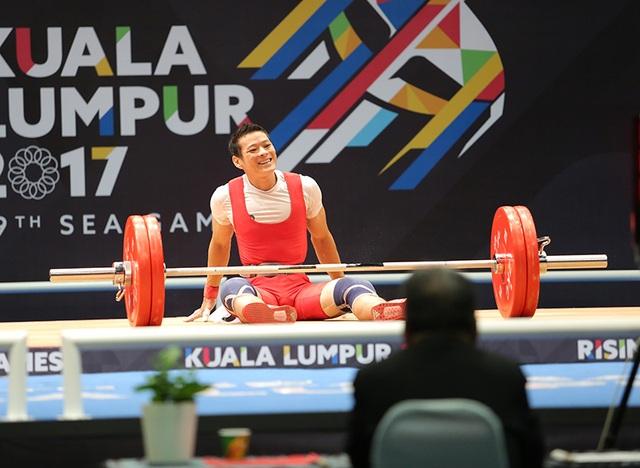 Kim Tuấn thất bại ở lần cử giật 125kg