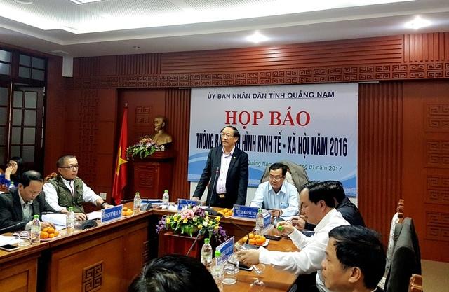 Tỉnh Quảng Nam tổ chức họp báo thông báo tình hình kinh tế - xã hội năm 2016 và phương hướng, nhiệm vụ năm 2017