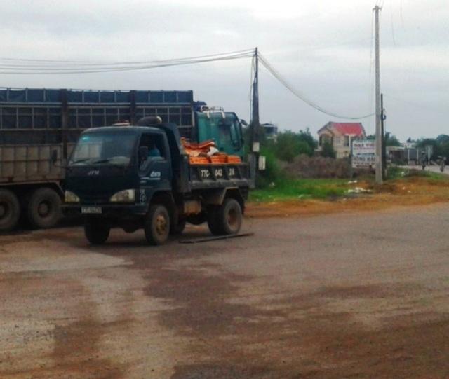 Lực lượng chức năng chỉ bắt được 2 xe tải hạng nhẹ cơi nới thùng