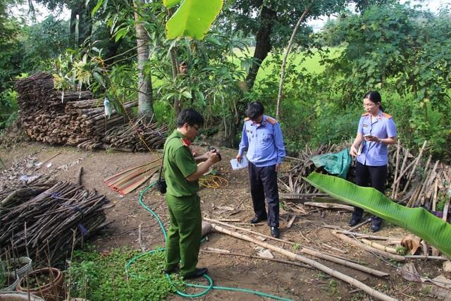 Hiện trường nơi phát hiện thi thể anh Trần Văn T.