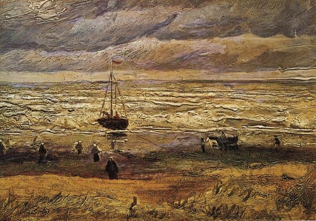 """Bức """"Cảnh biển ở Scheveningen"""" (1882) là một trong hai bức tranh sơn dầu đáng giá hàng triệu USD bị kẻ trộm đột nhập lấy đi khỏi bảo tàng ngày 7/12/2002."""
